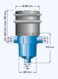 Retention Filter with Telescopic Extension 1000626_ dimensions.