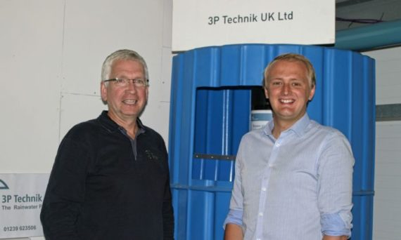 Dr Glyn Hyett (left) with Ben Lake MP at 3P Technik UK