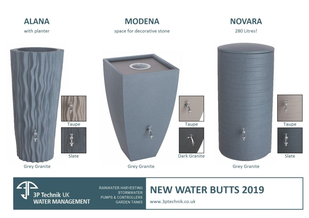 New Contemporary Colours for Decorative Water Butts 2019