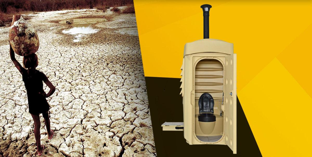 SaniSolar sustainable solution dry toilet