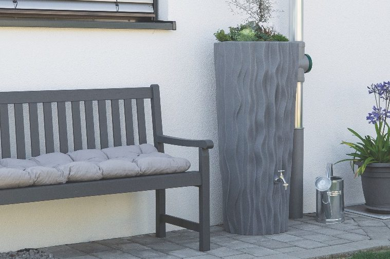 Alana Water Butt Planter - Grey Granite Finish
