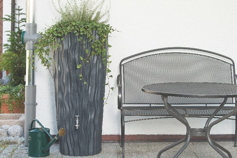 Alana Water Butt Planter - Slate Finish