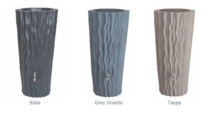 Alana Water Butt Planter 3 Colour Finishes: Slate, Grey Granite, Taupe
