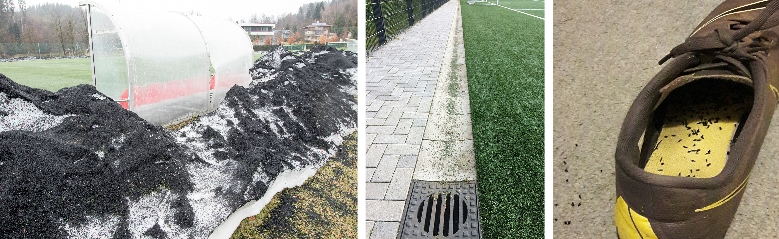 Ways that artificial turf rubber crumb plastic ipollutes the environment.